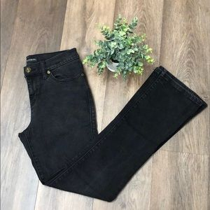 Black denim bootcut